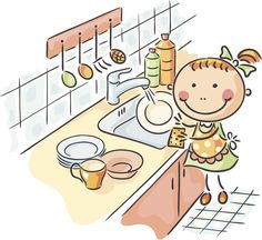 Choose from 60 top Washing Dishes Cartoon stock illustrations from iStock. Find high-quality royalty-free vector images that you won't find anywhere else. Free Vector Graphics, Vector Art, Picture Story Writing, Clip Art, Washing Dishes, Animal Sketches, Stick Figures, Cute Pictures, Illustration Art