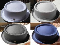New Cool Summer 100 Cotton Pamoa Pork Pie Hat with Band  9399ff97e1d