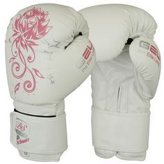 Auth. Ladies Pink Gel Boxing Gloves Bag Womens Gym Kick Pads MMA Mitts Muay Thai
