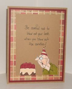 Art Impressions: Golden Oldies: Birthday Couple, handmade card ...masculine