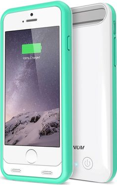 iPhone 6S Battery Case - iPhone 6 Battery Case , Trianium Atomic S iPhone 6 6S Portable Charger Battery Charging Case (4.7 Inches)[White/Turquoise][Lifetime Warranty]- 3100mAh External Backup iPhone Charger Protective Juice Power Bank[MFI Apple Certified]