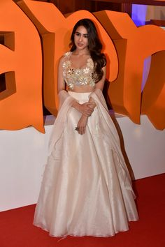 Indian Fashion Winters Sara Ali Khan's most notable looks from Kedarnath promotions. Inside the young 'Bollywood' debutant's wardrobe. In Pic: in Abu Jani, Sandeep Khosla white Lehenga and gorgeous choli, Call/WahtsApp for Customised Purchase : Bollywood Lehenga, Indian Lehenga, Bollywood Fashion, Bollywood Hair, Lehenga Choli, Bollywood Actress, Lehenga White, Bollywood Girls, Bollywood Style