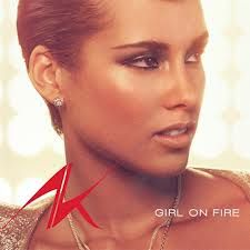 """Music score and backing track/playalong of """"Girl on fire"""" by Alicia keys 