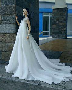 by DepHermoso Doll Couture Barbie Bridal, Barbie Wedding Dress, Barbie Gowns, Barbie Dress, Barbie Clothes, Wedding Dresses, Fashion Royalty Dolls, Fashion Dolls, Diva Dolls