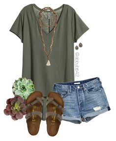 """""""Headed to Florida!"""" by abbybp42 ❤ liked on Polyvore featuring H&M, Birkenstock, Native Gem and Jewelry for a Cause"""