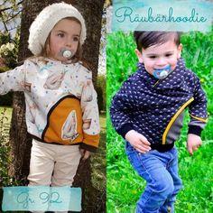 kostenloses Schnittmuster Räuberhoodie/ Hoodie/ Pulli für Kinder in Größe 98 nähen