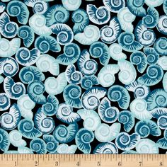 Tides Shells Blue from @fabricdotcom  Designed by Jane Dixon for Andover, this cotton print is perfect for quilting, apparel and home décor accents. Colors include shades of blue.