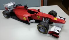 Ferrari F1 DIY papercraft model built by Joerg Wamper of Germany. Get and build yours at http://visualspicer.com/store