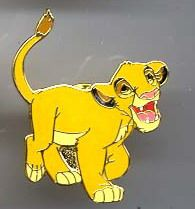 Disney WDCC Lion King Simba never sold Pin/Pins this pin is from the Walt Disney Classic Society.
