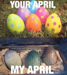 Différentes raisons d'aimer avril et les oeufs que l'on espère trouver.