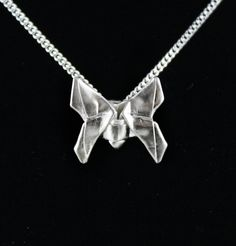 Handmade silver Origami Butterfly by folditcreations on Etsy