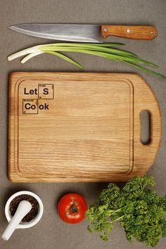 Wood cutting board, Let's Cook, Monogram Cutting Board, Custom Cutting ...