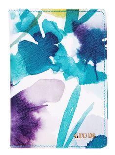 Passaporto-Leather Passport Cover-Flowers