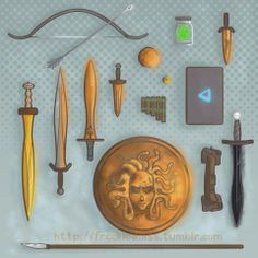 Day 5 Percy Jackson challenge favorite weapon Riptide :)