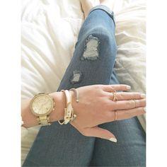 Gold and white accessories Instagram: @caitlincarol_