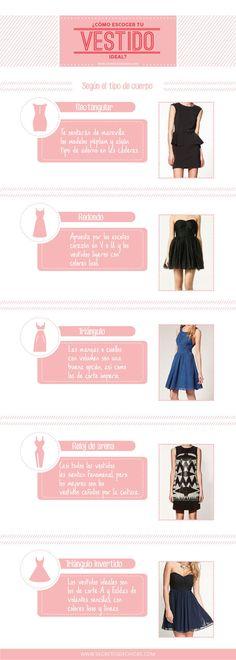 Todas podemos lucir un lindo vestido que enfatice nuestra figura. | 18 Guías visuales de estilo que toda mujer necesita en su vida
