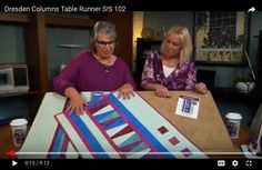 Quilt Tutorials, Sewing Tutorials, Table Runner Tutorial, Sewing With Nancy, Fabric Strips, Fabric Squares, Nancy Zieman, Quilting Projects, Quilting Patterns