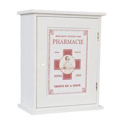 ARMOIRE à PHARMACIE neuve BLANCHE à suspendre DECO bois 30cm design vintage in Maison, Meubles, Biblio., étagères, rangements | eBay