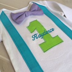 Monsters Inc. Baby Boy Can choose short sleeve 1st by ByEllenBaby