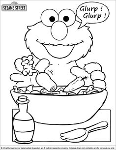 sesame street coloring page - Sesame Street Coloring Pages