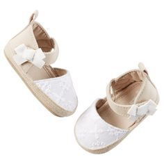 Carter's Crocheted Espadrille Crib Shoes