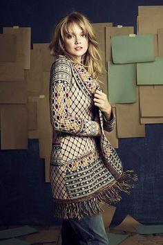 Love this Satpura Sweater Coat from Anthropologie
