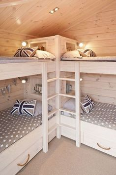 """Awesome """"bunk bed designs space saving"""" information is offered on our internet site. Take a look and you will not be sorry you did. Corner Bunk Beds, Bunk Beds Small Room, Bunk Bed Rooms, Bunk Beds Built In, Modern Bunk Beds, Cool Bunk Beds, Bunk Beds With Stairs, Kids Bunk Beds, Bunk Bed Ideas For Small Rooms"""