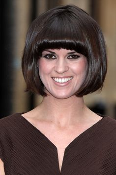 Pin for Later: Fringespiration! 50 Celebrity Fringe Hairstyles to Inspire Your New Cut Dawn O'Porter Like Claudia Winkleman and Zooey Deschanel, Dawn is queen of the fringe and wouldn't be the same without her dramatic 'do.