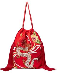 White Handbag, Beaded Clutch, Drawstring Pouch, Red Satin, New Bag, Pouch Bag, Bag Making, Bucket Bag, Fashion Backpack