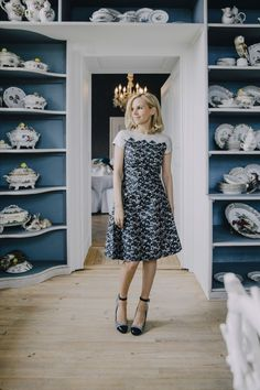 Tory Burch wearing the Rayna dress, by Noa Griffel