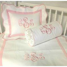 Monogram baby bedding