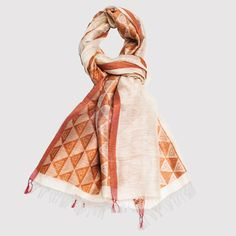 Esse et Cie Stacked Triangles Silk Shawl