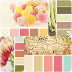 Nursery+Color+Palettes | color palettes for the nursery #color