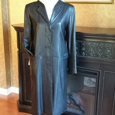 I just discovered this while shopping on Poshmark: Calvin Klein genuine leather c.... Check it out! Size: M, listed by elegant_style