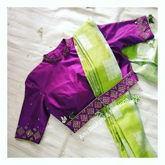 Latest Trending Silk Saree Blouse Designs - 2019 Update - - Tie belt blouse Source by tryitbuyit Saree Blouse Neck Designs, Stylish Blouse Design, Fancy Blouse Designs, Bridal Blouse Designs, Blouse For Silk Saree, Silk Blouses, Dress Designs, Designer Saree Blouses, Designer Blouse Patterns
