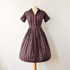 50s Atomic Shirt Dress now featured on Fab.
