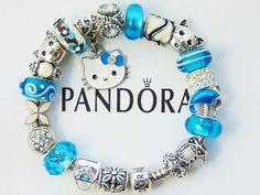 b7c1269f4 Authentic Pandora Sterling Silver Bracelet with European Charms Hello Kitty  #PANDORA #Charm #SterlingSilverStorage