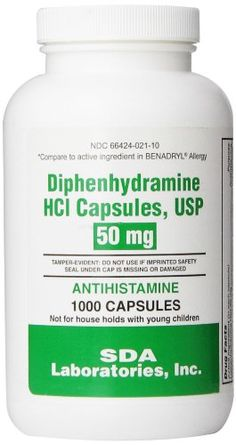 Active Ingredient Diphenhydramine HCl 50 mg.....................anthistamine #Uses Temporarily relieves the following symptoms due to common colds, hay fever or ...