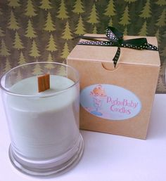 Crackling Firewood Wood Wick 12 oz. Soy Candle by PudgeBabyCandles, $24.00