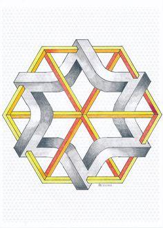 #impossible #penrose #triangle #isometric #geometry #symmetry #handmade #mathart #regolo54 #escher #oscareutersvärd #opticalillusion