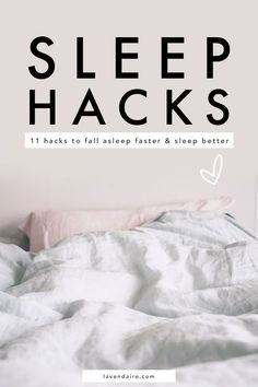 Here are my best tips & life hacks to help you fall asleep faster & get better sleep. I often have trouble falling asleep so I've tested different methods to improve my sleep. How To Sleep Faster, Sleep Better, How To Sleep Quickly, How To Fall Asleep Quickly, Trouble Falling Asleep, Tips For Falling Asleep, Insomnia Causes, Sleep Tips Insomnia, Insomnia Help