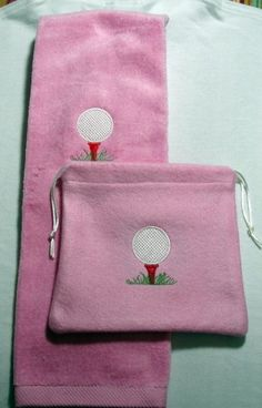 Custom Embroidered Golf Towel and by nancyscustomstitcher on Etsy, $20.00