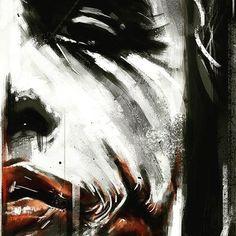 Batman Anniversary Tribute - PP :: Heath Ledger as Joker in 2008 - Art by Robert Bruno by LyndsiHermsenMoulton Joker Batman, Der Joker, Joker Art, Joker And Harley Quinn, Heath Joker, Joker Cartoon, Batman Stuff, Superman, Comic Books Art