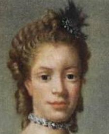 closeup of Queen Charlotte. She looks her age here, doesn't she?