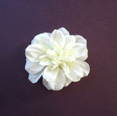 Ivory, Purple Orange, Yellow, or Pink Fabric Flower Hair Clip, Brooch, or Pin - Small Dahlia $10