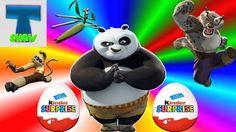 Кунг Фу Панда распаковка и обзор Киндер Сюрпризов Кунг Фу Панда игрушки ...