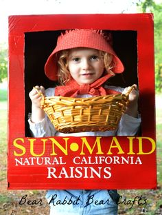 Bear Rabbit Bear Crafts: SunMaid Raisin Halloween Costume Tutorial