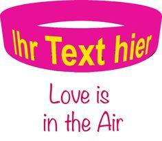 gestalte dein individuelles Liebesarmband, for your sweethearts #ownband #silikonarmband #liebe
