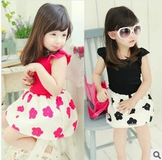 retail Free shipping 2014 Korean style kids Girl Cute...