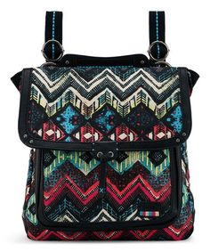 4c43e128c2ea This Green & Red Geo Pacifica Backpack is perfect! #zulilyfinds  Convertible Backpack,